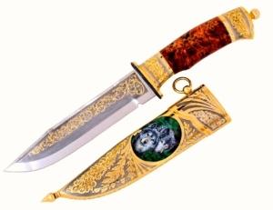 Украшенный златоустовский нож